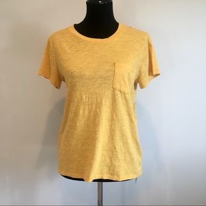 NWT • Madewell • yellow short-sleeve t-shirt